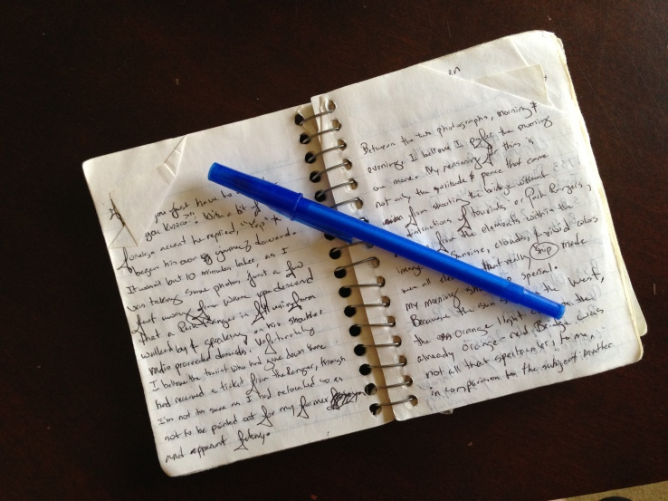 Photo Notebook, used for recording my thoughts, settings, planning, etc.