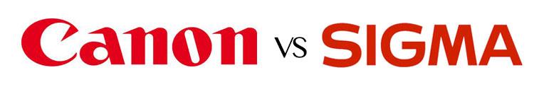 Canon vs. Sigma (logos).